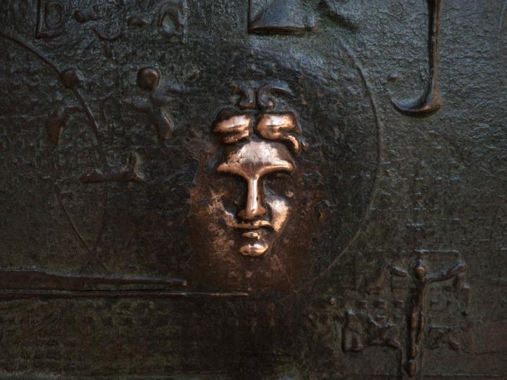 face-in-door